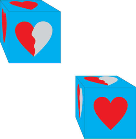 dices with heart Stock Vector - 504293
