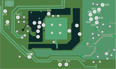 transistor: electronic board