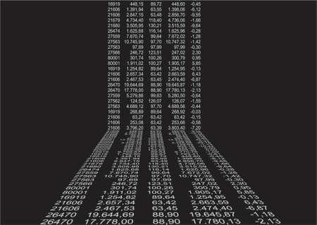 fondo con datos financieros en perspectiva Ilustración de vector