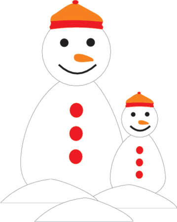 snowman and son Vector