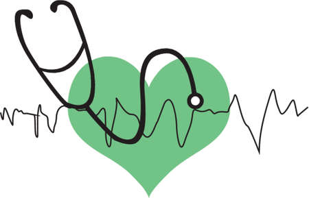 doctor examine: heart with stethoscope
