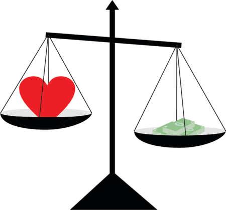 heart and money Stock Vector - 524980