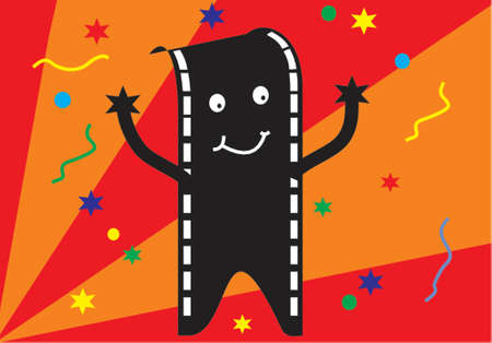 film man party background Vector