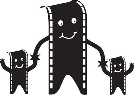 film man and family Vector