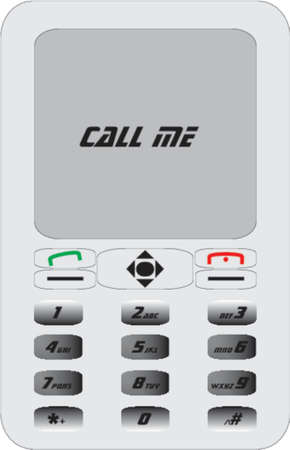 call me: mobile phone with call me text
