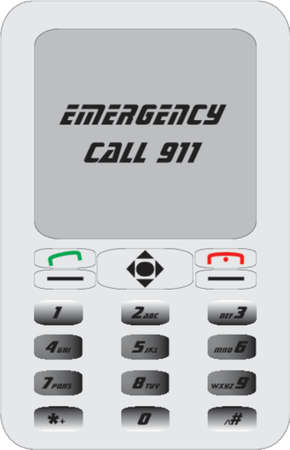 mobile phone 911 Stock Vector - 524784