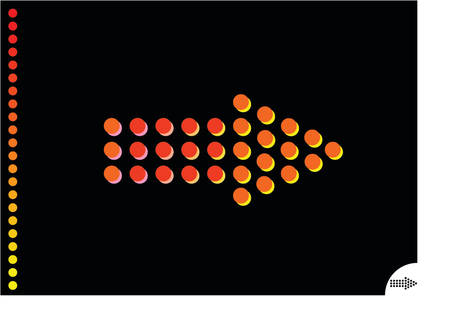 background of a black sheet and orange arrow Vector
