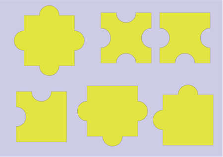 routing: puzzle pieces Illustration