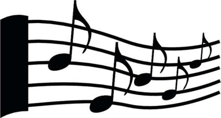 estrofa: notas musicales