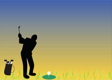 golf with grass Stock Vector - 548575