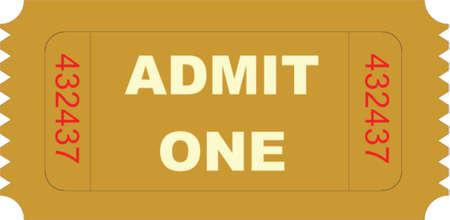 admit one: ticket admit one