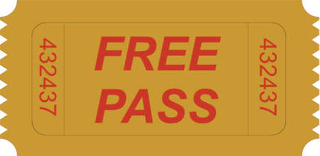 ticket free pass Vector