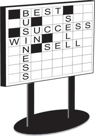 whiteboard: Whiteboard met kruiswoordraadsel