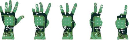 bionico: Elettronica mano  Vettoriali
