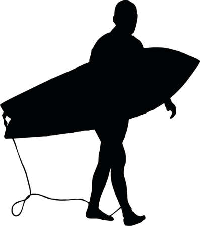 surfer silhouette Vector