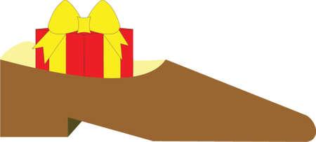 shoe box: gift box inside the shoe