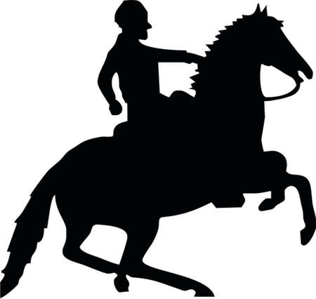 horse and man Vector