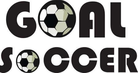 uefa: Fu�ball und Ziel  Illustration