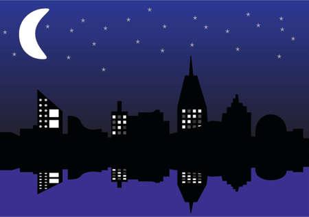 reflexe: ville r�flexe lune