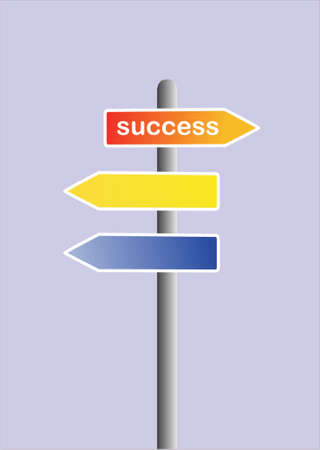 road sign with success text Vector