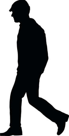 silouette: man with hat Illustration
