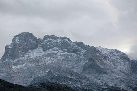 picos da europa mountain with snow Stock Photo - 673761