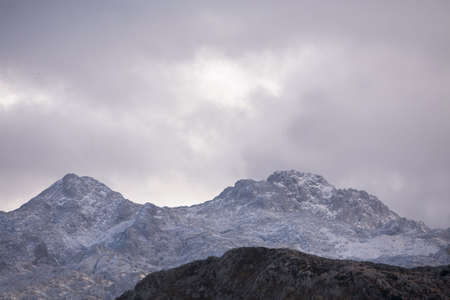 picos da europa mountain with snow Stock Photo - 673757