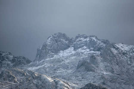 picos da europa mountain with snow Stock Photo - 673753