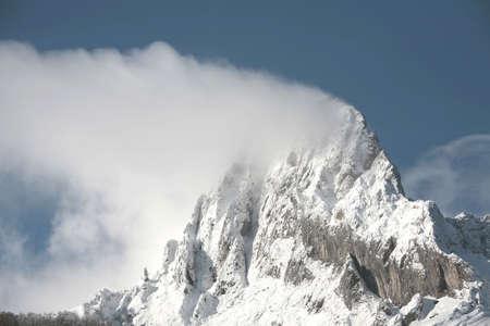 top of mountain with snow in picos da europa Stock Photo - 675757