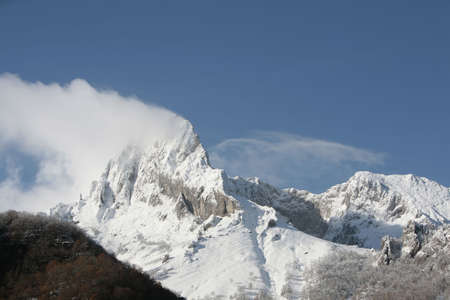 mountain with snow in picos da europa Stock Photo - 680476