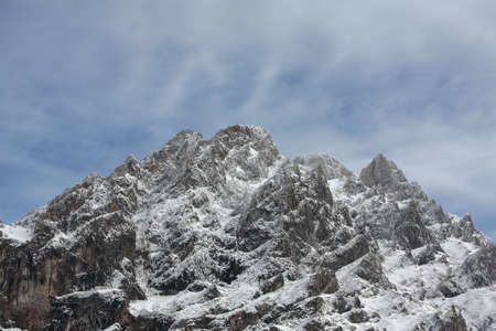 mountain with snow in spain Stock Photo - 687243