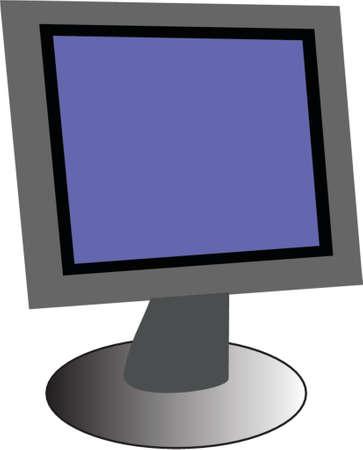 pc monitor: pc monitor Illustration