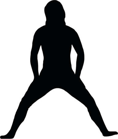 peacefull: fitness silhouette