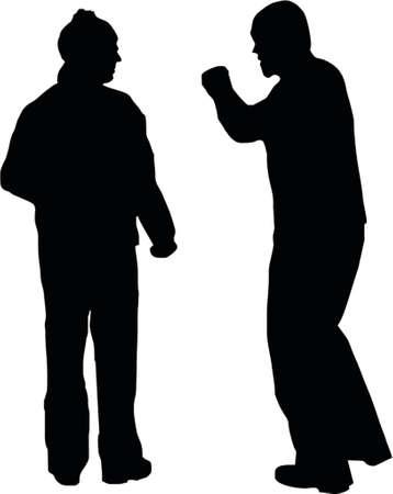 marrage: couple fight Illustration