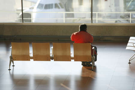man wait for a flight Stock Photo - 713572