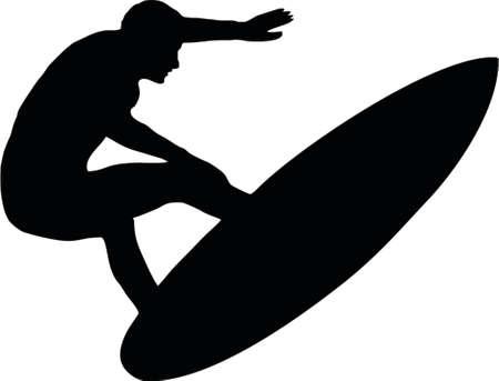surf vector: surfer Illustration