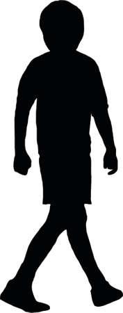 silhouette soccer boy Vector