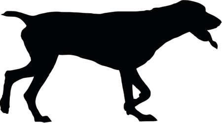 watchful: dog silhouette Illustration