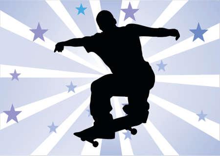 skateboard park: skater muchacho con antecedentes