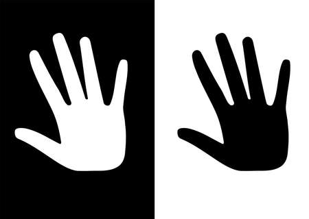 one black hand and one white hand Vector