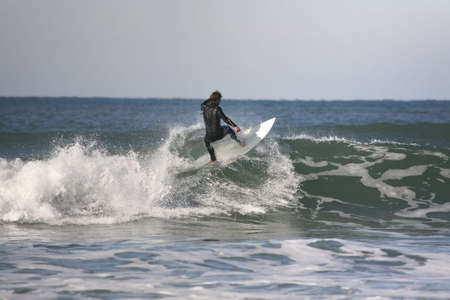 floater: surfer making a floater