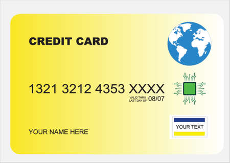 checking account: illustration of a secure credit card