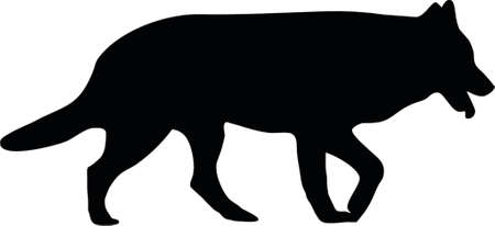 ilustración de un perro pastor alemán Ilustración de vector