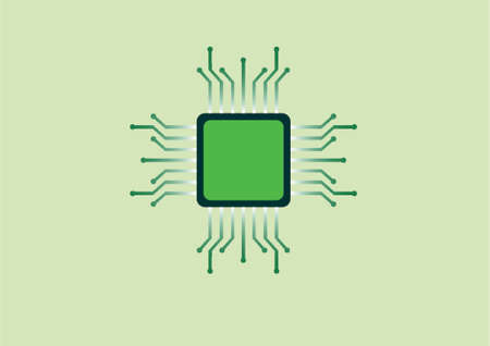 micro chip: illustration of an electronic chip Illustration