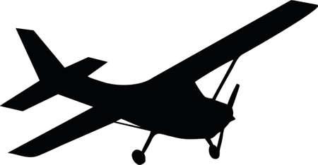pilot wings: illustration of one biplane aircraft Illustration