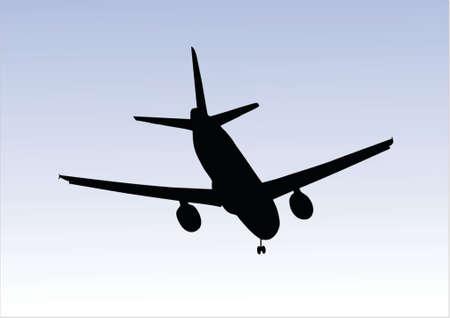 boeing: illustration of an aeroplane landing