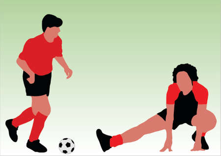 soccer players - You can change numbers and colors easily Vector