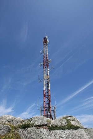 blu sky: multifunctional antenna with a blue sky Stock Photo