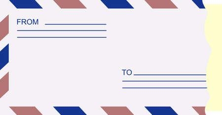 illustration of an open envelope Vector