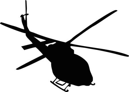 illustration of a helicopter Vettoriali